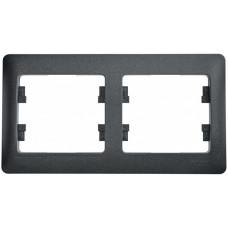 Glossa Антрацит Рамка 2-ая, горизонтальная | GSL000702 | Schneider Electric
