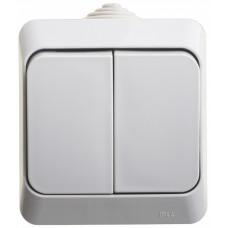 ЭТЮД О/У Серый Выключатель 2-клавишный IP44 | BA10-042C | Schneider Electric