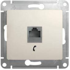 Glossa Молочный Розетка телефонная RJ11 | GSL000981T | Schneider Electric