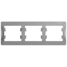 Glossa Алюминий Рамка 3-ая, горизонтальная   GSL000303   Schneider Electric