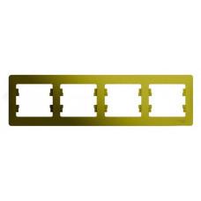 Glossa Фисташковый Рамка 4-ая, горизонтальная | GSL001004 | Schneider Electric