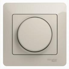 Glossa Молочный Светорегулятор (диммер) универсальный, 600Вт/ВА, в сборе | GSL000936 | Schneider Electric