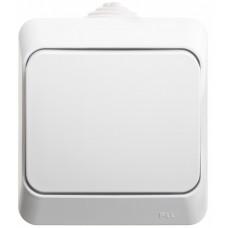 ЭТЮД О/У Белый Переключатель 1-клавишный IP44 сх.6 | BA10-046B | Schneider Electric