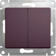 Glossa Сиреневый туман Выключатель 2-клавишный, сх.5, 10AX | GSL001451 | Schneider Electric