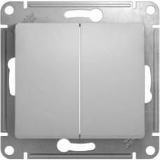 Glossa Молочный Переключатель 2-клавишный, сх.6,10AX | GSL000965 | Schneider Electric