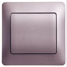 Glossa Сиреневый туман Выключатель 1-клавишный сх.1, 10AX (в сборе) | GSL001412 | Schneider Electric
