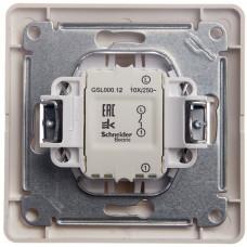 Glossa Молочный Выключатель 1-клавишный сх.1, 10AX (в сборе) | GSL000912 | Schneider Electric