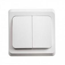 ЭТЮД С/У Белый Выключатель 2-клавишный | BC10-002B | Schneider Electric