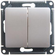Glossa Перламутр Выключатель 2-клавишный, сх.5, 10АХ | GSL000651 | Schneider Electric