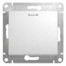 Glossa Белый Выключатель 1-клавишный с подсветкой, сх.1а, 10АХ | GSL000113 | Schneider Electric