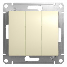 Glossa Бежевый Выключатель 3-клавишный, сх.3, 10АХ | GSL000231 | Schneider Electric