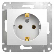 Glossa Белый Розетка с/з | GSL000143 | Schneider Electric