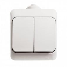 ЭТЮД О/У Белый Выключатель 2-клавишный IP44 | BA10-042B | Schneider Electric