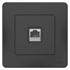 Blanca С/У Антрацит Розетка компьютерная RJ45 | BLNIS045006 | Schneider Electric