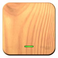 Blanca О/У с изол. пласт. Ясень Переключатель 1-клавишный с подсветкой, 10А, 250B | BLNVA106115 | Schneider Electric