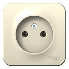 Blanca О/У без пласт.Молочный Розетка б/з без шторок, 16А, 250В | BLNRA000102 | Schneider Electric