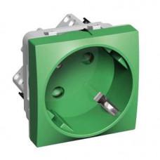 РОЗЕТКА 45 2P+E СО ШТОРКАМИ ЗЕЛЕНАЯ | ALB4528206 | Schneider Electric