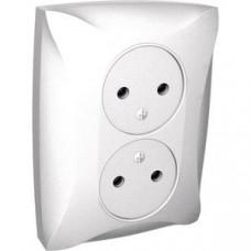 ДУЭТ Белый Розетка 2-ая б/з | WDE000120 | Schneider Electric
