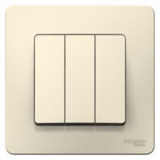 Blanca С/У Молочный Выключатель 3-клавишный, 10А, 250B | BLNVS100502 | Schneider Electric