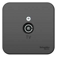 Blanca О/У с изол. пласт. Антрацит Розетка TV | BLNTA000016 | Schneider Electric