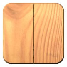 Blanca О/У с изол. пласт. Ясень Выключатель 2-клавишный 10А, 250B | BLNVA105015 | Schneider Electric