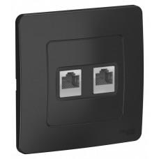 Blanca С/У Антрацит Розетка 2-ая компьютерная RJ45 | BLNIS045456 | Schneider Electric