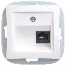 ДУЭТ Белый Розетка компьютерная 1-ая RJ45 кат.5e | WDE000183 | Schneider Electric