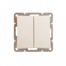 ДУЭТ Бежевый Выключатель 2-клавишный (сх.5) с подсветкой | WDE000253 | Schneider Electric