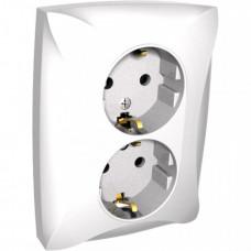 ДУЭТ Белый Розетка 2-ая с/з | WDE000124 | Schneider Electric