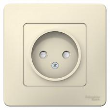 Blanca С/У Молочный Розетка б/з со шторками, 16А, 250В | BLNRS000112 | Schneider Electric
