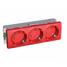 РОЗЕТКА Х3 45 2P+SIDE E ШТОР БЛОК КРАС | ALB45266 | Schneider Electric