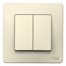 Blanca С/У Молочный Выключатель 2-клавишный, 10А, 250B | BLNVS010502 | Schneider Electric