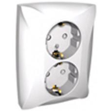 ДУЭТ Белый Розетка 2-ая с/з с защитными шторками | WDE000126 | Schneider Electric