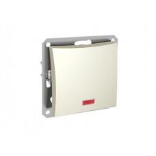ДУЭТ Бежевый Выключатель 1-клавишный кнопочный с НО контактом (сх.1) с подсветкой | WDE000217 | Schneider Electric