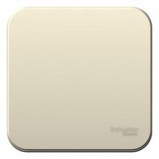 Blanca О/У с изол. пласт. Молочный Переключатель 1-клавишный 10А, 250B | BLNVA106012 | Schneider Electric