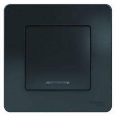 Blanca С/У Антрацит Выключатель 1-клавишный с подсветкой, 10А, 250B | BLNVS010116 | Schneider Electric