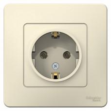 Blanca С/У Молочный Розетка с/з без шторок, 16А, 250В | BLNRS001012 | Schneider Electric