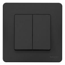 Blanca С/У Антрацит Выключатель 2-клавишный, 10А, 250B | BLNVS010506 | Schneider Electric