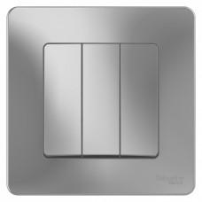 Blanca С/У Алюминий Выключатель 3-клавишный, 10А, 250B | BLNVS100503 | Schneider Electric
