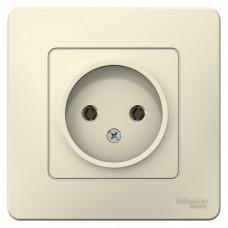 Blanca С/У Молочный Розетка б/з без шторок 16А, 250В | BLNRS000012 | Schneider Electric