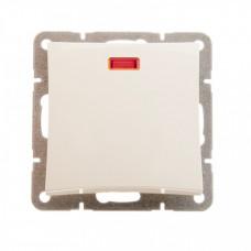 ДУЭТ Бежевый Выключатель 1-клавишный (сх.1) с подсветкой | WDE000213 | Schneider Electric