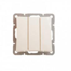 ДУЭТ Бежевый Выключатель 3-клавишный (сх.3) | WDE000231 | Schneider Electric
