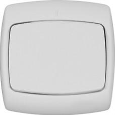 РОНДО С/У Белый Выключатель 1-клавишный 250В, 10А-6АХ (в сборе) | VS1U-126-BI | Schneider Electric