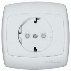 РОНДО С/У Белый Розетка с/з 16А (в сборе) | RS16-264-BI | Schneider Electric