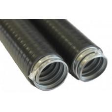 Металлорукав в пвх изоляции МПГ нг HF 25 (50 м/уп.) черный | 42912 | ЗЭТА