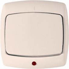РОНДО С/У Белый Выключатель 1-клавишный с подсветкой 10А 220-250В IP20 (в сборе) | VS1U-125-BI | Schneider Electric