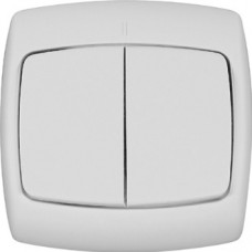 РОНДО С/У Белый Выключатель 2-клавишный 10А (в сборе) | VS5U-228-BI | Schneider Electric