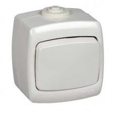 РОНДО О/У Белый Переключатель 1-клавишный 10А, IP44 | VA610-126B-BI | Schneider Electric