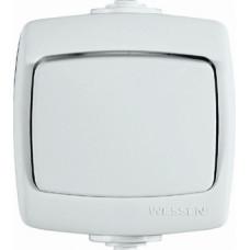 РОНДО О/У Белый Переключатель 1-клавишный 6А, IP44 | VA66-102B-BI | Schneider Electric