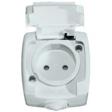 РОНДО О/У Белый Розетка б/з с защитными шторками 10А, IP44 | RA10-125B-BI | Schneider Electric